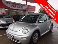 VOLKSWAGEN BEETLE 1.6 8V 3d 101 BHP FABULOUS CONDITION, LONG MOT (silver) 2006