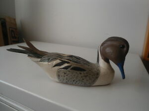 Carved wooden duck Peterborough Peterborough Area image 1