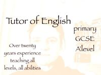 Tutor of English (KS3, KS4)