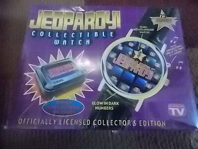1999 Jeopardy Collectible Watch Value Center NIB Tin Case Glow In Dark Music