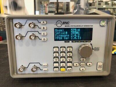 Bnc Berkeley Nucleonics Corp Model 575-4 0.001 Hz To 10 Mhz Digital Delay Puls