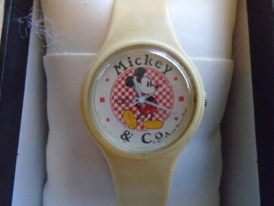 Disney Mickey Mouse Childs Watch Wristwatch Vintage Collectible