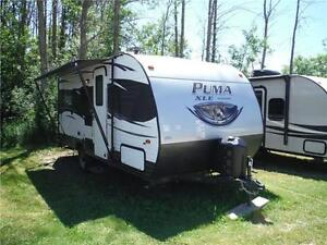 2017 Puma XLE 17QBC Ultra Lite Travel Trailer with Bunkbeds