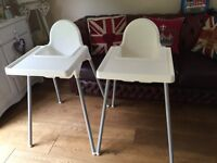 Highchairs (2) for sale