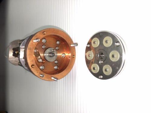 Used 6-Pos Quartz Crystal Thin Film Monitor Head w/New Inficon 6Mhz Crystals