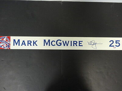 Mark McGwire Signed GU 1995 All-Star Game Nameplate Auto PSA/DNA Z25615