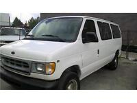 2001 Ford E350 cargo van super duty,only 153000 KM,White AC