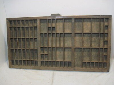 L-9 OLD HAMILTON PRINTERS TRAY INK DRAWER WOOD SHADDOW BOX NICK KNACK SHELF