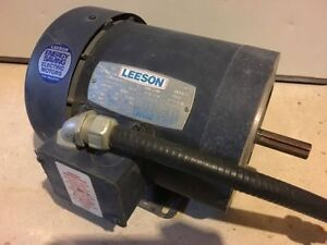 Leeson 3/4hp motor 3 phase 3450rpm