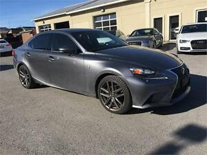 2015 Lexus IS 250 | F Sport Level 1| Red interior | AWD |