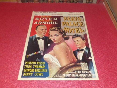 Cinema Poster Original Belgian - Paris Palace Hotel - Arnoul Boyer Verneuil 1956