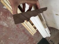 Hardwood Architrave: Sapele hardwood, finished in RAL 9010 (can be overpainted)