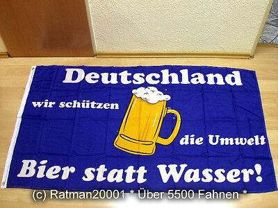 Fahnen Flagge Deutschland Bier statt Wasser - 90 x 150 cm