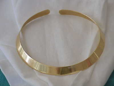 DESIGNER GIO CAROLS 18K SOLID GOLD 11 MM WIDE COLLAR NECKLACE ITALIAN  DESIGNER