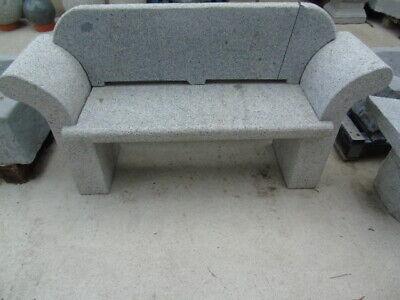 banc de jardin en pierre avec dossier , granit brut , nouveau et grand choix !