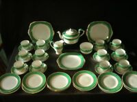 "c1930s ART DECO Tea Set for 12 made for Lawleys ""Shagreen"" pattern"