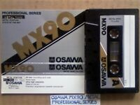 VERY RARE OSAWA METAL MX90 ULTRA HIGH COERCIVITY PROFESSIONAL SERIES STATE OF THE ART CASSETTE TAPES