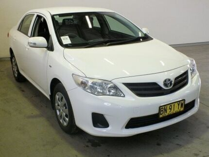 2012 Toyota Corolla ZRE152R MY11 Ascent Glacier White 4 Speed Automatic Sedan Westdale Tamworth City Preview