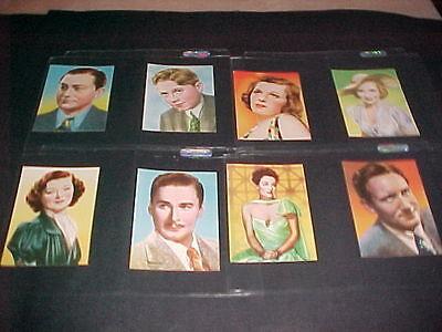 1940 SHERMAN'S FAMOUS FILM STARS COMPLETE SET