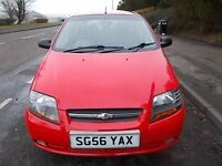 CHEVROLET KALOS 1.2 SE 5 DOOR HATCHBACK 56 REG,, FULL SERVICE HISTORY,, MOT SEPTEMBER 2017