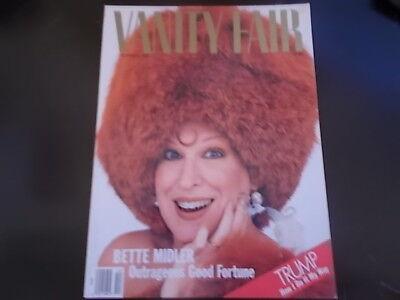 Bette Midler, Donald Trump - Vanity Fair Magazine 1987