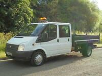 2014(14) Ford Transit T350 LWB D/C CREW CAB TIPPER, Euro 5, FINANCE AVAILABLE?