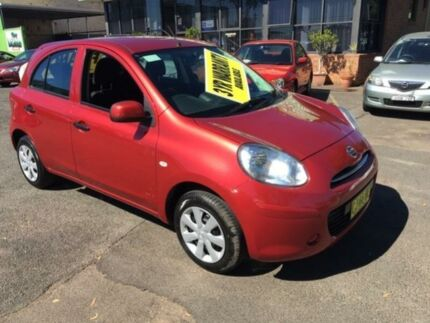 2014 Nissan Micra K13 MY13 ST Red 5 Speed Manual Hatchback