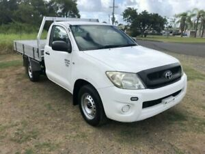 2010 Toyota Hilux TGN16R Workmate White 5 Speed Manual Cab Chassis Single cab Ballina Ballina Area Preview