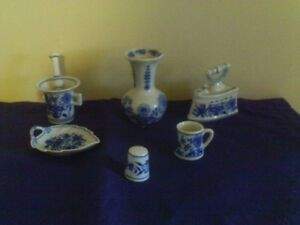 "Zwiebelmuster ""Blue Onion"" Cibulak Miniatures and more"