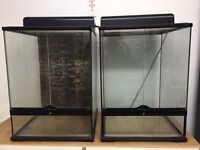 EXO TERRA GLASS VIVARIUMS - TWO AVAILABLE