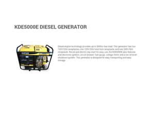 Kipor IG5000E Diesel Generator only $1,499 last one ! clearance!