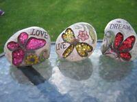 """""""Live dream love"""" ornamental glittering stones"""