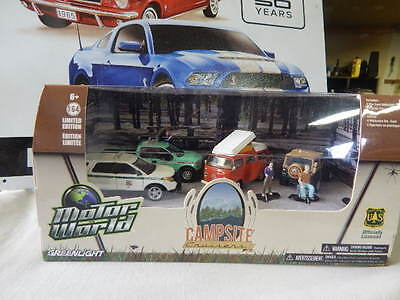 GREENLIGHT MOTOR WORLD CAMPSITE CRUISERS DIORAMA US FOREST SERVICE