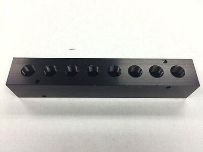 Black Aluminum Air Distribution Manifold 12 Fpt X 38 Fpt Outlet 8 Port