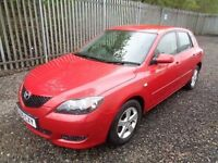 MAZDA 3 TS 1.6 PETROL RED 2005 5 DOOR HATCHBACK 42,000 MILES MOT TILL 17/05/18 ( NO ADVISORIES )
