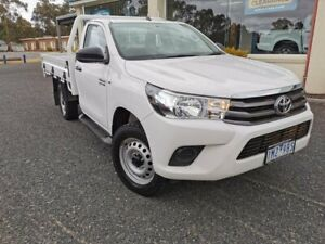 2018 Toyota Hilux GUN126R SR White 6 Speed Sports Automatic Cab Chassis Horsham Horsham Area Preview