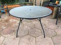 Garden Patio Table, metal mesh top originally from Homebase