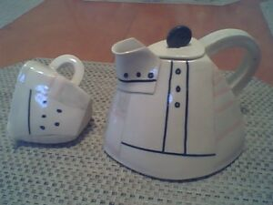 Arts & Crafts Style Teapot & Cream