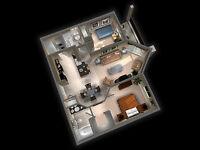 Beautiful 2 bedroom/ 2 bathroom condo in Palisades Park Villas W