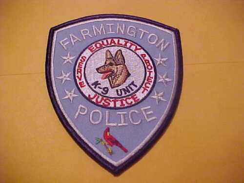 FARMINGTON ARKANSAS K-9 POLICE PATCH SHOULDER SIZE UNUSED