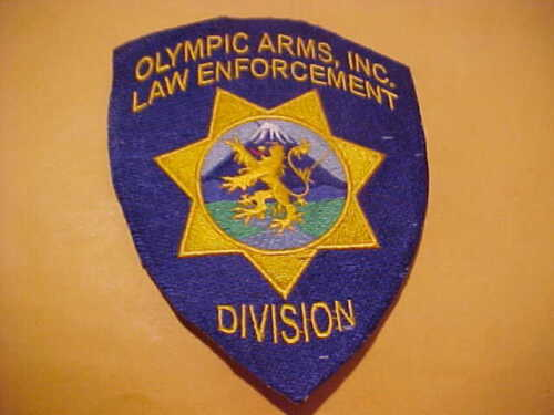OLYMPIC ARMS COMPANY COLORADO POLICE PATCH SHOULDER SIZE UNUSED NO EDGE