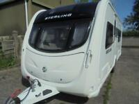 2011 Sterling Eccles Ruby 4 Berth Caravan For Sale.Fixed Bed.End Washroom