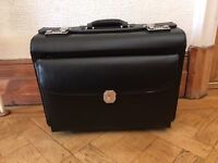 Leather Trolley Briefcase Bag