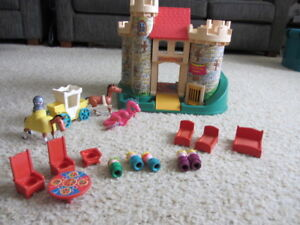 Vintage Fisher Price Castle and Figures & Furniture