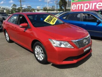 2012 Toyota Aurion GSV50R AT-X Red 6 Speed Auto Sports Mode Sedan Lidcombe Auburn Area Preview