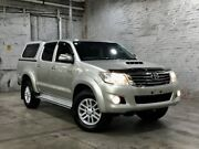2013 Toyota Hilux KUN26R MY12 SR5 Double Cab Silver 5 Speed Manual Utility Mile End South West Torrens Area Preview