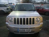 Jeep Patriot 2.0 CRD Limited Station Wagon 5dr Good / Bad Credit Car Finance (silver) 2008