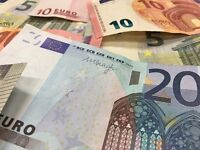 I will buy your leftover holiday Euros - 100 EUR = £80.98 - Today's rate (22/8/2016) = £1.2349