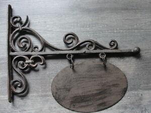 1 Türschild Gusseisen Haus Tür Schild Wandhaken Namenschild Konsole Haken Antik