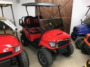 2010 Club Car Precedent Alpha Golf Cart Red/Black Max 5
